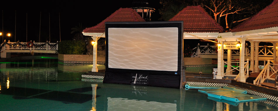 4 pro tips for the perfect pool party movie night blue for Garden pool party