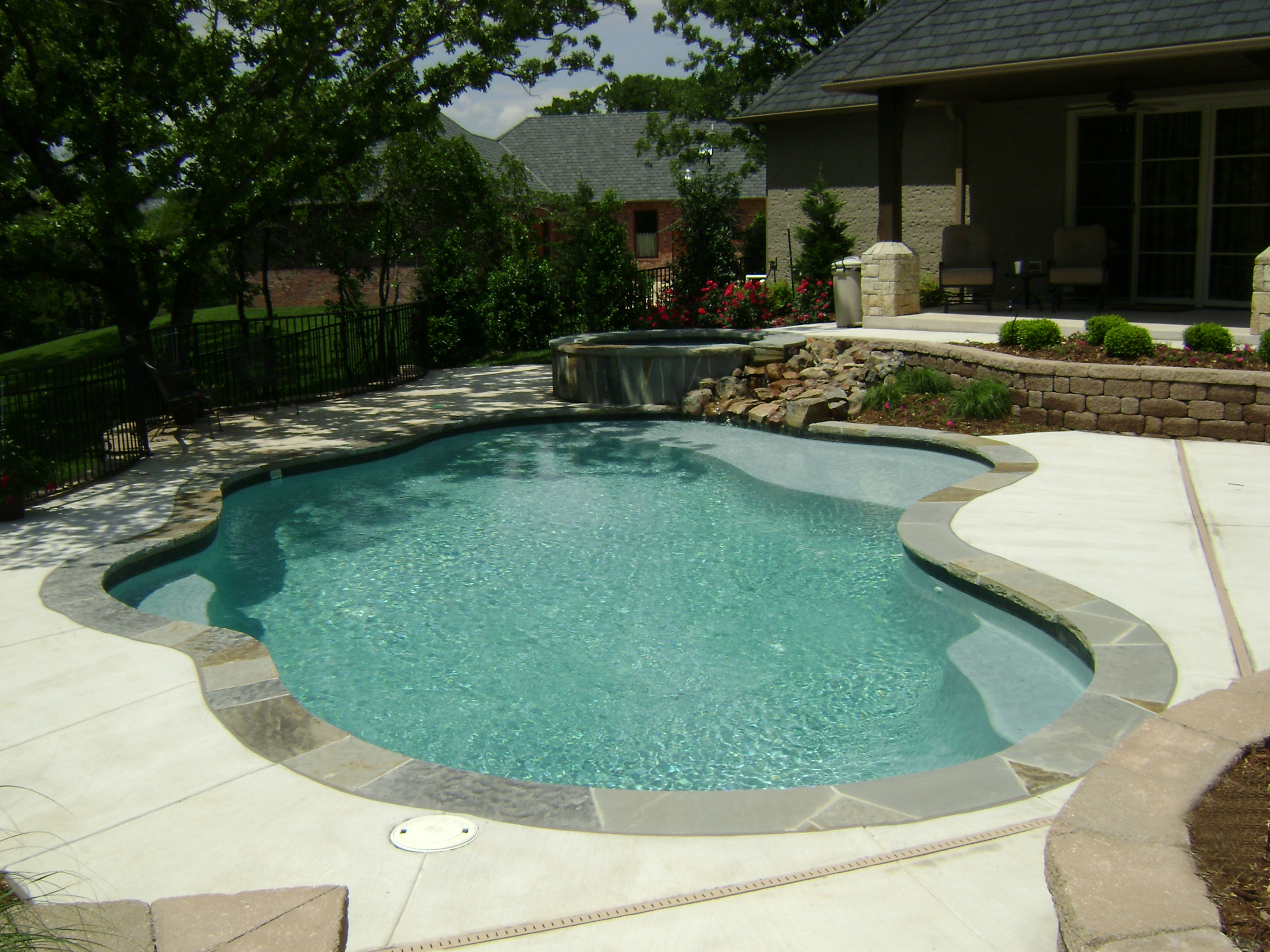 Free form pool designs in okc norman ok blue haven for Pool plans free