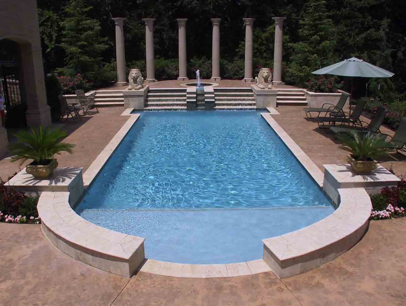 Best Oklahoma Cityus Premier Pool Builders With Roman Pool Design