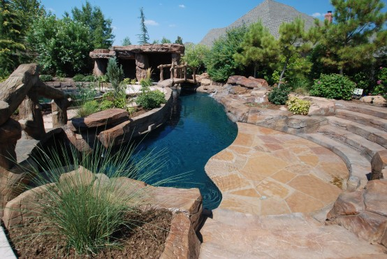 Free form pool designs blue haven pools - Swimming pool contractors oklahoma city ...