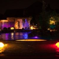 Pool Lighting Installation Oklahoma City Okc Blue