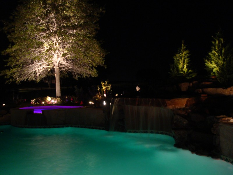 Pool lighting installation Oklahoma City (OKC) - Blue Haven Pools