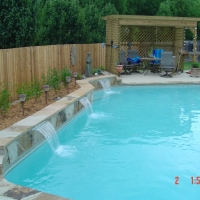 Water Features For Pools In Oklahoma City Blue Haven Pools